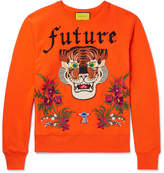 Gucci Embroidered And Appliquéd Loopback Cotton-Jersey Sweatshirt