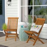 Beachcrest Home Millbrook Folding Teak Patio Dining Chair