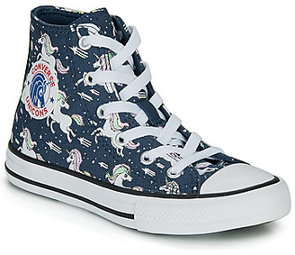 Converse CHUCK TAYLOR ALL STAR UNICONS HI girls's Shoes (High-top Trainers) in Blue