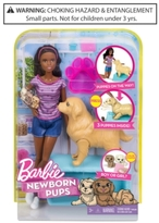 Barbie Mattel's Newborn Pups Doll & Pets