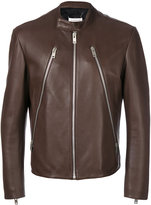 Maison Margiela zip detail biker jacket