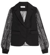 Sonia Rykiel Lace, Satin And Crepe Blazer
