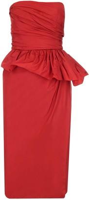 Max Mara Ruffled Strapless Midi Dress