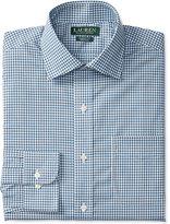 Lauren Ralph Lauren Men's Classic-Fit Non-Iron Blue Gingham Dress Shirt