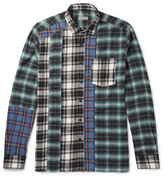 Lanvin - Patchwork Checked Cotton-flannel Shirt