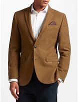 John Lewis Camel Moleskin Tailored Blazer, Camel
