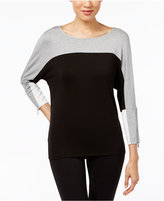 Calvin Klein Colorblocked Boat-Neck Top