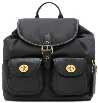 Coach Multi-Pocket Drawstring Backpack