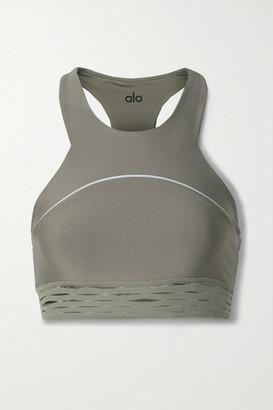 Alo Yoga Sequence Stretch Sports Bra - Army green