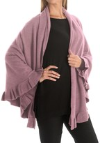 Portolano Cashmere Ruffled Shawl (For Women)