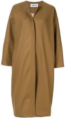 PARTOW Collarless Midi Coat