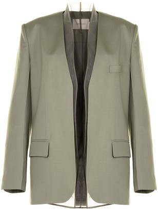 Low Classic Layered Tulle Wool Blazer