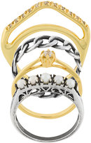 Iosselliani Silver Heritage set of four rings