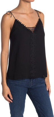 7 For All Mankind Lace-Up V-Neck Camisole