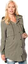 A Pea in the Pod French Connection Zip Front Twill Maternity Jacket