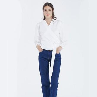 Maison Labiche Crossover Blouse White - S