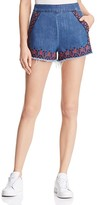 Blank NYC BLANKNYC Embroidered Denim Cutoff Shorts