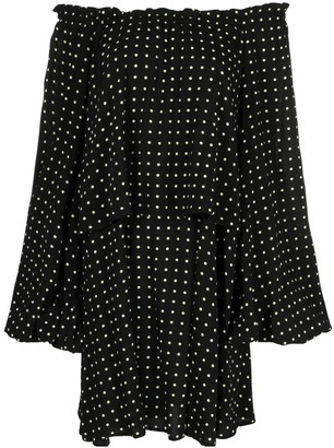 Rotate by Birger Christensen Polka-Dot Dress