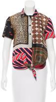 Dolce & Gabbana Silk Tie-Accented Top