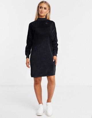 Kappa azar velour t-shirt dress in black