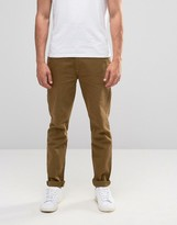 Asos Straight 5 Pocket Trouser In Stone Heavy Twill
