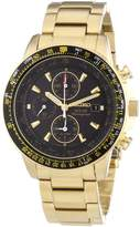 Seiko Men's Solar SSC008 Gold Stainless-Steel Quartz Watch with Dial