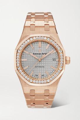 Audemars Piguet Royal Oak Automatic 37mm 18-karat Pink Gold And Diamond Watch - Rose gold