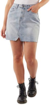 All About Eve Shea Split Denim Skirt Lt