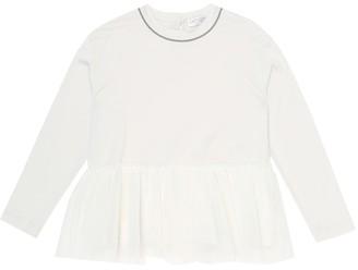 BRUNELLO CUCINELLI KIDS Ruffled cotton top