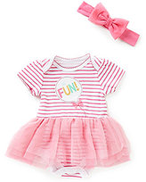 Baby Starters Baby Girls 3-9 Months So Fun Striped Tutu Bodysuit