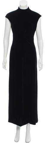 Giorgio Armani Ruched Velvet Dress