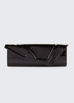 Christian Louboutin So Kate Patent East-West Clutch Bag, Black