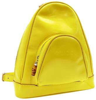 Gucci Yellow Patent leather Backpacks