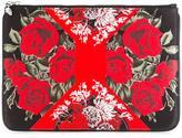 Alexander McQueen floral print clutch - women - Polyester - One Size