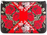 Alexander McQueen floral print clutch