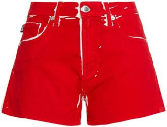 Love Moschino Printed Denim Shorts