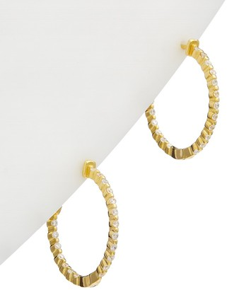 Alanna Bess Limited Collection 14K Over Silver Classic Hoops