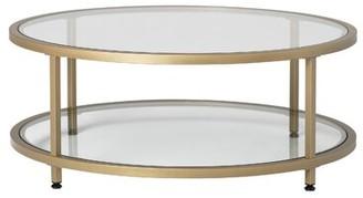 Camber Floor Shelf Coffee Table Studio Designs HOME Color: Gold