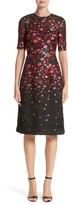 Lela Rose Women's Holly Floral Matelasse A-Line Dress