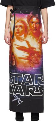 Vetements Reversible Black STAR WARS Edition Movie Poster Skirt