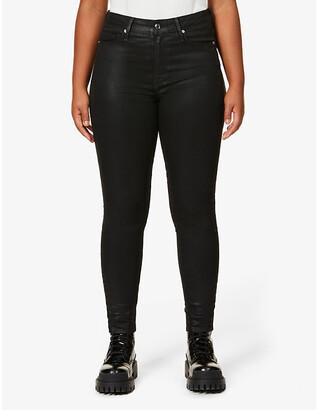 Good American Good Legs Waxed coated skinny high-rise jeans