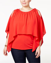 MICHAEL Michael Kors Size Cold-Shoulder Overlay Top