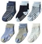 Jefferies Socks Non-Skid Crew 6-Pack Boys Shoes