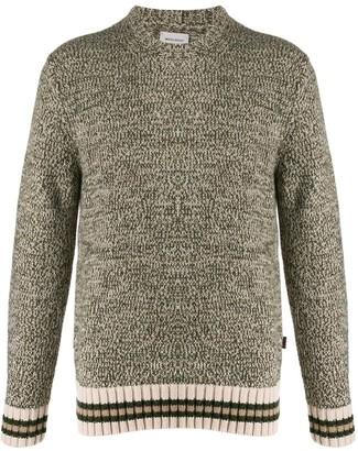 Woolrich Stripe Detailed Knitted Jumper