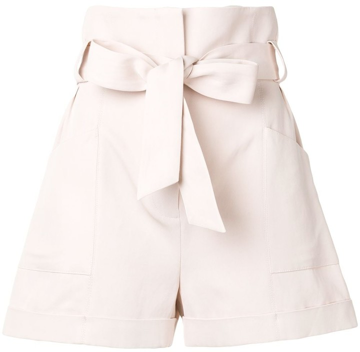 IRO Piralin tie waist shorts