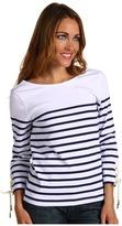 Juicy Couture Yacht Stripe 3/4 Sleeve Boatneck (Atlantis Yacht Stripe) - Apparel