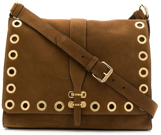 Alberta Ferretti Eyelet-Embellished Shoulder Bag