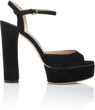 Jimmy Choo Peachy Suede Platform Sandals