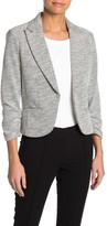 Amanda & Chelsea Notch Collar Textured Blazer Jacket (Petite)