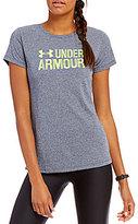 Under Armour Threadborne Twist Graphic Short Sleeve Top